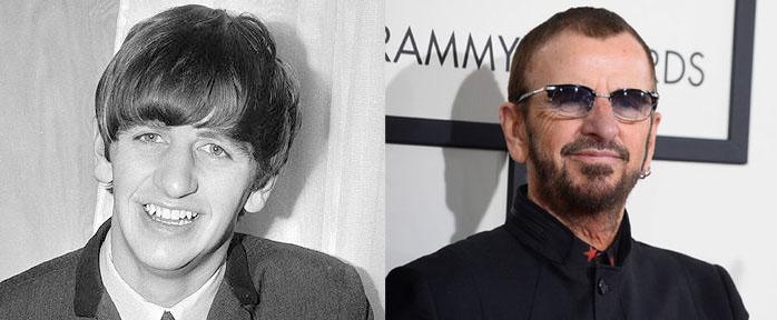 Ringo Starr - Vergleich von Früher und Heute
